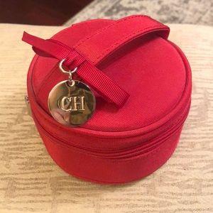 Carolina Herrera red satin mini purse